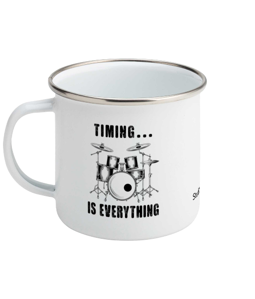 Drums Timing Mug - Enamel